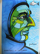 Cousteau Of The Deep  SIGNED limited Numbered Print BY DR.FERDIE PACHECO Rare
