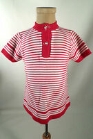 CUTE! Vintage 1960s Mod Style Baby Saks Fifth Avenue Striped Sweater Shift Dress
