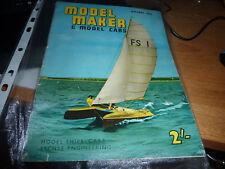 MODEL MAKER & MODEL CARS MAGAZINE August 1961