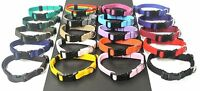"8""-11"" Extra Small Puppy Dog Collar Adjustable 13mm Webbing In Various Colours"