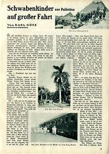 Karl Götz Schwabenkinder aus Palästina auf großer Fahrt Schwäbische Kolonie 1932