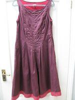 Whistles London Cotton Pinafore Sleeveless Dress Sz 12 Boho Artist Quirky Casual