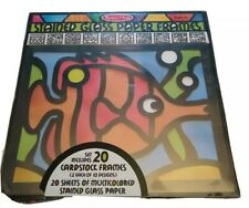 Melissa & Doug Stained Glass Paper Frames 2 Each of 10 Designs #4383 Age 5+ New