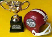 NCAA National CHAMPIONS ALABAMA Crimson TIDE mini gumball football helmet Trophy