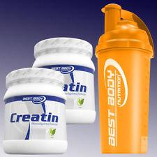 Best Body Nutrition Creatin Monohydrat 2 x 500g + Eiweiß Shaker in Orange
