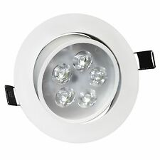 LED Ceiling Downlights Angle Adjustment Recessed Spotlights 5W Warm White