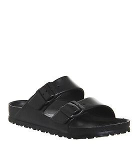 Womens Birkenstock Arizona Two Strap Sandals Black Eva Sandals
