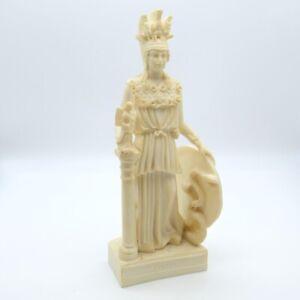 Athena Minerva Sculpture Greek Roman Mythology Goddess Figurine