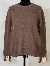 J. Crew womens xxs pull over cozy soft brown sweater  mohair wool blend