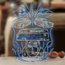 Aircooled Family Pinstriping Sticker Aufkleber autocollante Käfer MOONEYES blau