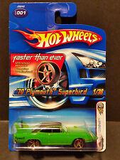 2006 Hot Wheels #001 First Editions 1/38 '70 Plymouth Superbird Green(FTE)-J3242