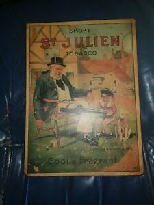 Iconic and rare St Julian Tobacco old point of sale Advertising poster