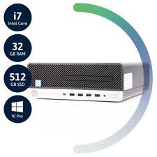 HP ProDesk 600 G5 SFF   i7 8700 bis 4.60   32GB RAM   512GB SSD   W10P   NEUWARE
