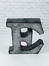 "Galvanized Metal Letter, 4"", Wall Metal Letter, A-Z Shelf Metal Letter."