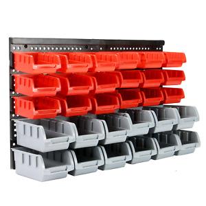 Wall Mounted Storage Bins & Backboards Tool Organiser Shed Shelving Pukkr