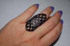 NEW JOHN HARDY $1750 LARGE SADDLE RING,SILVER/PAVE DIAMOND ,POUCH GORGEOUS!!!!