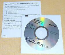 Works Plus 2008, Works 9.0, Office 2003, English Voll Version Englisch