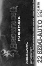 Browning 22 SemiAuto Rifle Printed Owners Manual B06