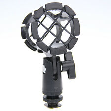 CAMVATE Universal Microphone Shock Mount Holder Stand Mic clip with Hot Shoe