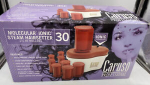 Caruso C97958 IONIC Steam Hairsetter 12 Large Jumbo Rollers Shiny Natural Setter