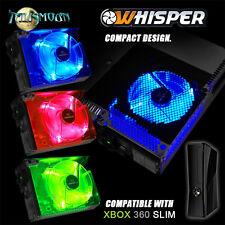 Talismoon Whisper Fan Internal Cooling for Xbox 360 Slim Red Blue Green Light