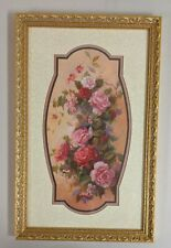 Vintage Home Interiors Rose Floral Picture by D. Giacomo