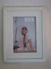 """Prinz Wooden Picture Frame White Holds 4"""" x 6"""" Photo New"""