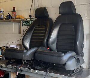 VW Passat Black Leather Front Heated Seats Like Scirocco Golf Mk5 Mk6 Caddy Van