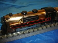 Marx toy train Copper (Brass) freight set & rail cars pre war tin litho