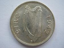 Ireland 1942 silver Shilling GVF
