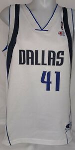 Original Champion Dallas Mavericks NBA Trikot Jersey Nr. 41 Nowitzki Gr. M