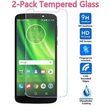 2Pack Top Quality Real Tempered Glass Screen Protector For Motorola Moto G6 Play
