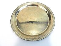 Vintage Round Serving Tray Chrome over Steel Platter Pineapple Metal 12 inch