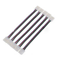 5pcs LED PCB Connector Adapter 4 Pin for 5050 Monocolor and RGB Strip 10mm P8F6