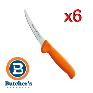 "Butcher's 6"" FDick Orange Fluro Boning Knife Box of - 6 Pieces"