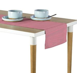 """Pinstripes Red Table Runners - 12""""x72"""" or 14""""x108"""""""