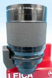 Nikon Nikkor Reflex C 500mm F8 Telephoto Lens -5 filters