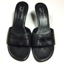 Donald J Pliner Women's Shoes Size 8.5 Black Slip On Veruka Sandals Leather