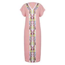 Women Boho Long Shirt Vest Dress Summer Casual Loose Kaftan Maxi Dress Sundress