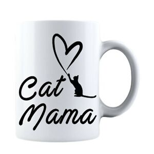 Funny Mothers Day Cat Mama - Gift for Mom, Mothers and Grandma Coffee Mug Mommy