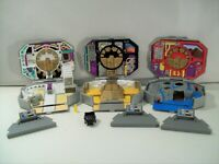 LOT OF 3 VINTAGE POWER RANGERS MICRO MORPHIN PLAY SETS BANDAI WHITE RED BLACK