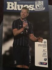 Southend United V Wigan Athletic Fooball Programme 2015