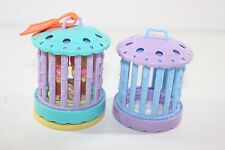 Vtg Lot Littlest Pet Shop Accessory 1993 Care Center Lovebirds Aqua Purple Cage