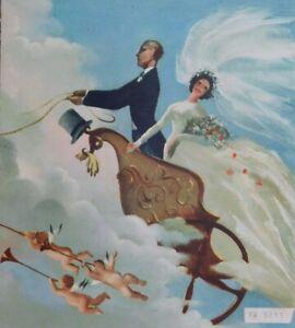 1942 Wedding Greetings Telegram, Horsham, UK Flying Horses design