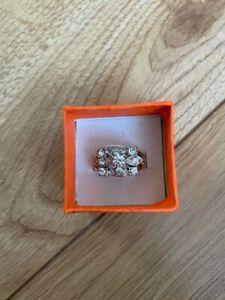 Ladies engagement ring Women Diamond finger ring imitation jewlery Uk Seller