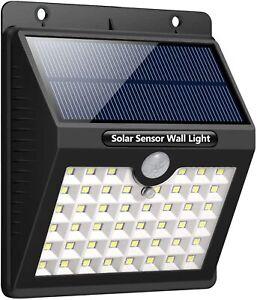 Solar Powered LED Light  Outdoor Garden Shed Fence Sensor Security - LEC800B