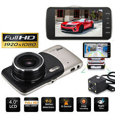 "4"" 1080p HD Doble óptica Coche Dvr RETROVISOR ESPEJO Dash Cámara Video Grabadora"