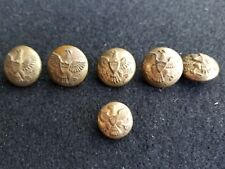 6 VTG Civil? Indian War Spanish American Horstmann Phila Eagle Coat Button NY