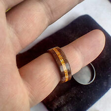 Wood Ring Handcrafted In American Walnut. Size 1-18 US
