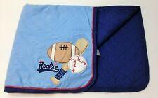 New listing Carter's Little Rookie Sports Baseball Football Blanket Baby Boy Quilt Os 32x26
